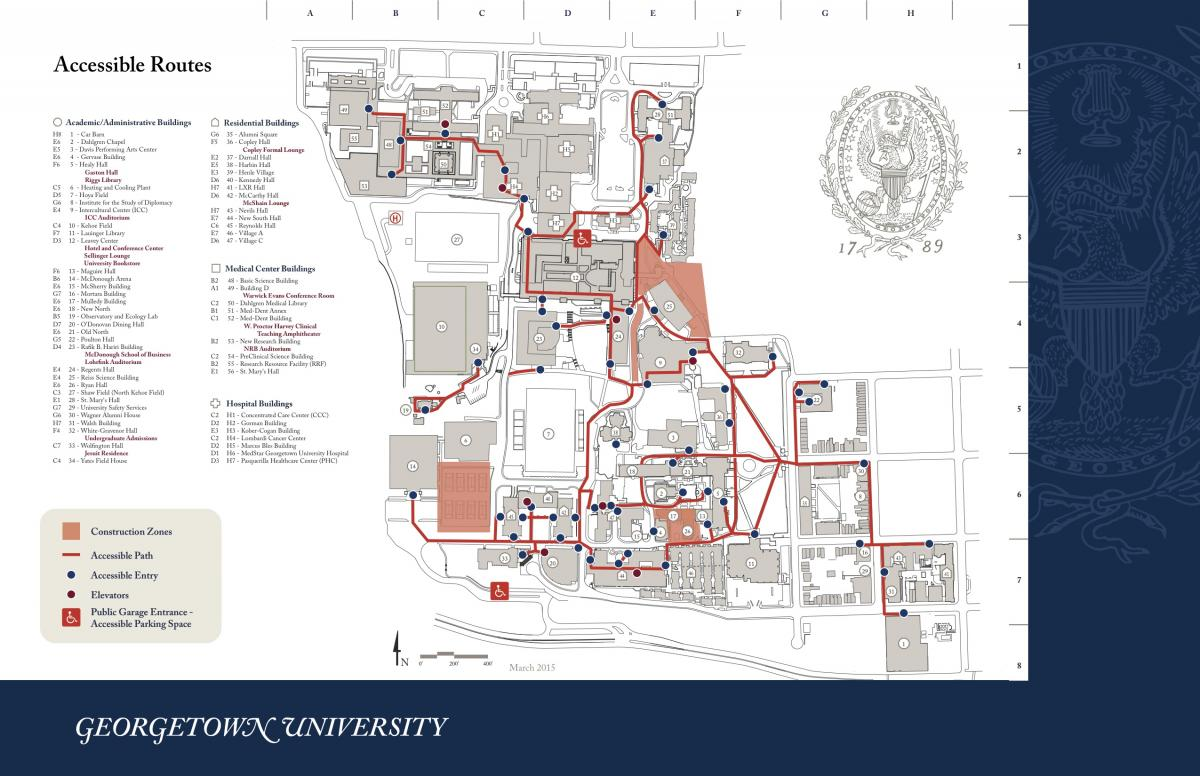 georgetown campus map pdf Barrier Free Routes Master Planning Georgetown University georgetown campus map pdf