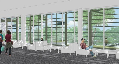 Rendering of the Healey Family Student Center in New South Hall
