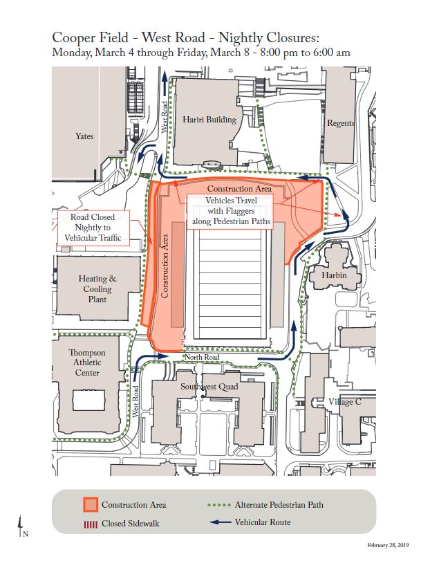 Cooper Field Updated Construction Map
